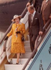 1986年,英女王伉儷訪華。(新華社資料圖片)