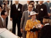 1986年,英女王伉儷於10月12日抵達北京。(新華社資料圖片)