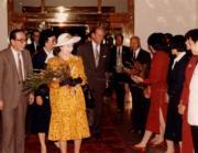 【1986年訪華】英女王伉儷到達釣魚台國賓館。(新華社資料圖片)
