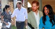英國薩塞克斯公爵伉儷哈里王子和梅根(法新社)