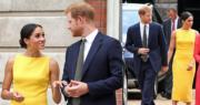 2018年7月5日,英國哈里王子和夫人梅根在倫敦出席英聯邦青年論壇活動(The Commonwealth Youth Forum)。(法新社)