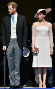 哈里王子(左)與梅根(右)(法新社)