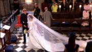 英國哈里王子(左)與梅根(右)5月19日舉行婚禮。(The Royal Family YouTube影片截圖)