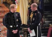 英國哈里王子(左)結婚,兄長威廉王子(右)當伴郎。(法新社)