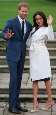 英國哈里王子 (左) 與美國演員馬克爾(Meghan Markle)(右)  (法新社)