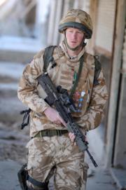 2008年1月2日,哈里王子在阿富汗南部 (法新社)