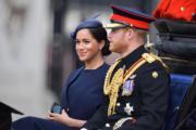 2019年6月8日,哈里王子(右)和梅根(左)(法新社)