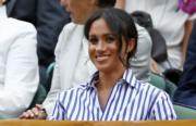 2018年7月14日,梅根觀賞2018溫布頓網球錦標賽。(法新社)