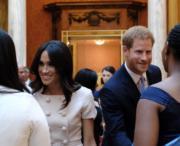 梅根(左)與哈里王子(右)(The Royal Family twitter圖片)