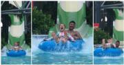 【Amazing Summer】碧咸陪仔女玩滑水天梯 哈七最興奮