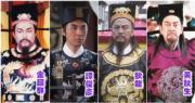金超群(左起)、譚俊彥、狄龍及黃秋生演繹的包青天,各有不同特色。(資料圖片/《包青天再起風雲》劇照/明報製圖)