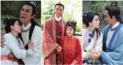 譚俊彥與姚子羚於戲中結為夫婦,可是不能白頭到老。(《包青天再起風雲》劇照/明報製圖)