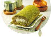 另一個胃:咬一口 外香軟 內Q彈 抹茶牛奶麻糬蛋糕卷