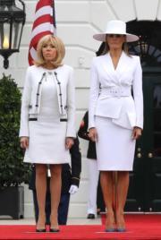 布麗吉特(左)和梅拉尼婭(右)(法新社)