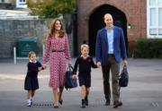 夏洛特小公主喬治小王子一齊開學 威廉凱特送返學拎書包【短片】
