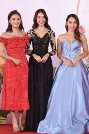 準新娘李旻芳「胸」贏劉溫馨及歐陽巧瑩。(娛樂組攝)