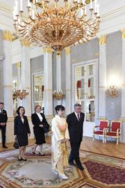 【日本佳子公主訪匈牙利】2019年9月20日,佳子公主(右二)(法新社)