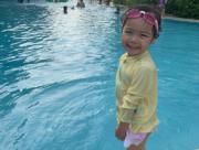 小朋友愛在嬉水池玩水,包包當然也不例外呢﹗(facebook圖片)