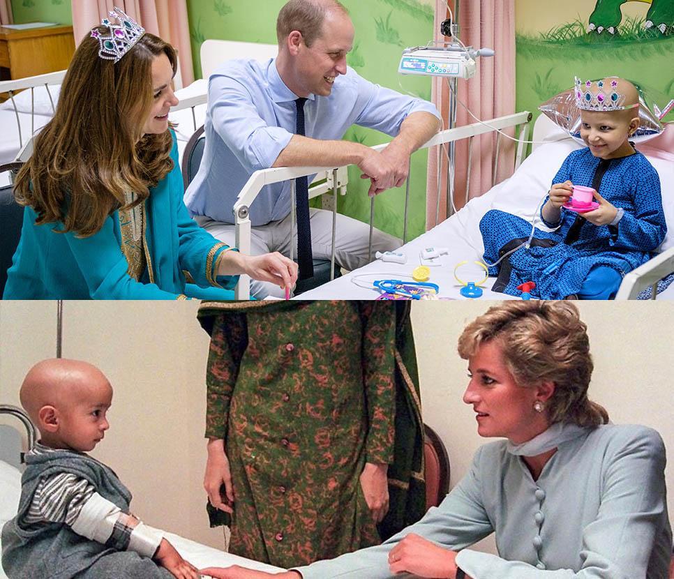 凱特威廉首訪巴基斯坦探癌病童 戴安娜兩度訪同一醫院