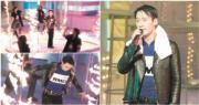 天王黎明於2000年台慶節目中與火共舞。(資料圖片/明報製圖)