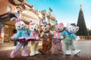 【A Disney Christmas@香港迪士尼】Duffy、ShellieMay、StellaLou、Gelatoni與CookieAnn換上新裝「Keep me warm」系列和大家見面。(圖片由相關機構提供)