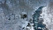 【雪落秦嶺如仙境】2019年11月25日,秦嶺西安段灃峪口雪景(新華社)