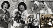 黎小田、薛家燕於1970年代合作綜藝節目《家燕與小田》,兩人常在節目中扮鬼扮馬。(資料圖片 / 明報製圖)