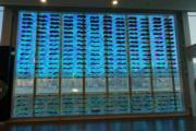香港藝術館「原典變奏──香港視點」展覽,圖為馮永基《我與吳冠中對話》(何芍盈攝)