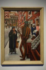 香港藝術館「觀景.景觀——從泰納到霍克尼」展覽,圖為愛德華·布拉《哈林區》(何芍盈攝)