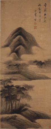 香港藝術館「虛室生白──虛白齋藏品選」展覽,圖為董其昌《雲藏雨散圖》(圖片由相關機構提供)