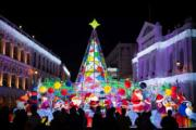 【世界各地迎聖誕2019】澳門議事亭前地的聖誕燈飾(新華社)
