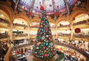 【世界各地迎聖誕2019】法國巴黎老佛爺百貨公司的聖誕樹(新華社)