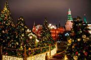 【世界各地迎聖誕2019】俄羅斯莫斯科的聖誕燈飾(法新社)