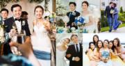 2012年香港小姐季軍朱千雪與拍拖5年的醫生男友吳昆倫(Justin),今年5月秘密入紙結婚,其後承認喜訊。朱千雪曾表示婚禮從簡,只會到律師樓簽字結婚,但原來她與Justin早安排在峇里島舉行婚禮,在80位親友見證下成為人妻。(資料圖片 / 朱千雪Instagram圖片 / 明報製圖)