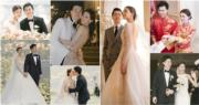 文詠珊(Janice Man)與拍拖5年的金融才俊吳啟楠(Carl)9月時在半島酒店簽字結婚,兩人10月時到意大利科莫湖的古堡舉行童話式浪漫婚禮。(資料圖片 / 明報製圖)
