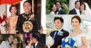 C君、朱千雪、林志玲、陳法拉、文詠珊、陳山聰等多位圈中人,今年均找到他們的人生伴侶。(資料圖片 / 明報製圖)