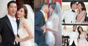 林志玲今年6月閃嫁日本組合EXILE成員Akira(黑澤良平),兩人11月時在台南舉行世紀婚禮,讓大家見證他們的幸福。(資料圖片 / 明報製圖)
