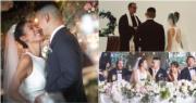 梁靖琪(Toby)今年6月跟男友施雋賢(Jon)結婚,姊弟戀開花結果,之後更宣布懷孕喜訊,兒子將於明年初出世。(梁靖琪Instagram圖片 / 明報製圖)
