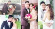 許芷熒9月跟拍拖兩年的男友Alex Fung結婚,兩人婚後一個月宣布有喜,透露籌備婚禮期間發現BB來了,女兒「馮寶寶」明年出世。(許芷熒Instagram圖片 / 明報製圖)
