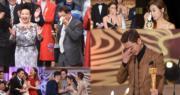 《萬千星輝頒獎典禮2019》已經曲終人散,該晚獲獎的無綫藝員都淚浸頒獎台。(娛樂組攝)