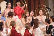 趙希洛得悉獲獎後,喜極而泣,同場女藝員亦拍手祝賀她。(娛樂組攝)
