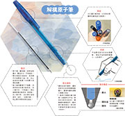 筆蓋穿孔「救命」 墨芯粗幼有數計 原子筆 一筆一畫算到盡