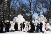 2020年2月4日,日本北海道札幌雪祭(法新社)