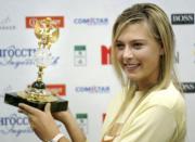 舒拉寶娃2005年贏得俄羅斯年度最佳運動員獎(法新社資料圖片)