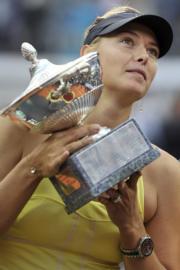 舒拉寶娃2011年贏得意大利網球公開賽(法新社資料圖片)