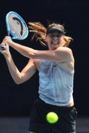 2020年1月,舒拉寶娃備戰澳洲網球公開賽。(法新社資料圖片)