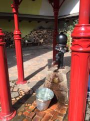 小花園設有水龍頭。(黃廷希攝,圖片攝於2017年4月)