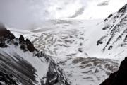 【世界自然遺產——中國】可可西里「世遺」提名地位於玉樹治多縣、曲麻萊縣境內。圖為2017年7月2日拍攝的玉珠峰頂的冰川。(新華社)