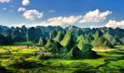 【世界自然遺產——中國】中國南方喀斯特二期列入世界自然遺產名錄。圖為在廣西環江毛南族自治縣大才鄉拍攝的喀斯特地貌。(資料圖片/新華社)