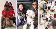 黃日華與梁潔華都是愛狗之人。(資料圖片/明報製圖)